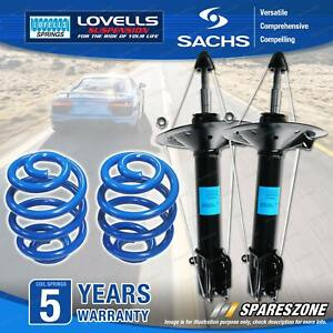 Front Sachs Shock Absorbers Lovells Sport Low Springs for Volkswagen Polo 6N