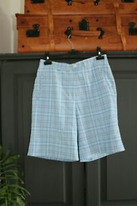 💅LYLE & SCOTT💃🏽 Ladies Designer Smart Shorts,Golf,Tartan,Plaid,Check Size 10