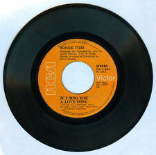 Philippines BONNIE TYLER If I Sing You A Love Song 45 rpm Record