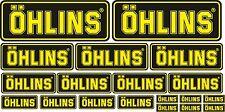 KIT 19 ADESIVI OHLINS GIALLO NERO STICKERS COD72