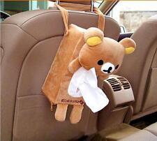 Cartoon Bear Car Accessories Seat Back Cover Holder Paper Napkin Box Tissue Box