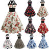 Ladies Women Vintage 50s 60s Rockabilly Retro Pinup Evening Party Housewife Dres