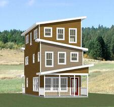 16x30 House -- 4 Bedroom 2.5 Bath -- 1,375 sq ft -- PDF Floor Plan -- Model 17C