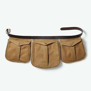 FILSON Tin Shooting Game Bag Lg Oiled Tin Cloth Bridal Leather Belt Bird Hunting