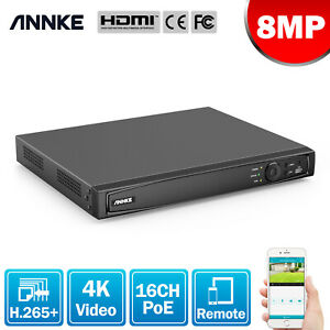 ANNKE 8MP 4K Video CCTV 16CH NVR Video Recorder for Home Security POE System Kit