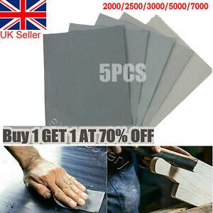 5PCS Wet & Dry Grit 2000 2500 3000 5000 7000 Car Paint Sand Paper Mixed Assorted
