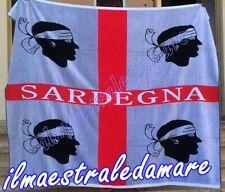 Telo mare Matrimoniale Asciugamano in spugna Bandiera, 4 mori, Sardegna Souvenir