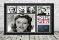 Dame Vera Lynn we'll meet again Signed Photo Print Poster Memorabilia