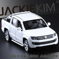 1:32 Scale Volkswagen Amarok Diecast Pick Up Truck SOUND LIGHT 4-Door Open White