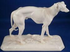 Nymphenburg Porcelain Blanc de Chine Greyhound Figurine Figure Porzellan Figur