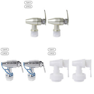 2x Plastic Faucet Beverage Dispenser Push Style Spigot 360° Rotation Spigot Tool