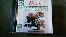 """Marie-Claire Alain,""""Bach: 6 Sonates en Trio"""" Rare French CD-ECD 55033"""