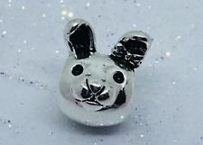 Bunny Rabbit 🐇 Bead In Solid 925 Stamped Silver Bracelet Charm Bead Jewellery