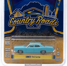 1:64 GreenLight *COUNTRY ROADS R13* Blue 1967 Ford Custom Sedan *NIP*