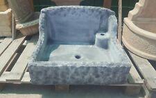 Lavandino cemento 50x60 e marmo lavabo acquaio lavello rustico effetto pietra