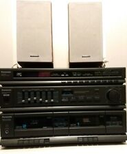 Panasonic SA-H90 Stereo Tuner Cassette with  Speakers SB-PM19 See Description