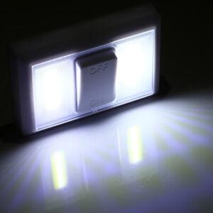 4 COB LED Wall Lamp Switch Wireless Battery Operated Closet Cordless Night Light