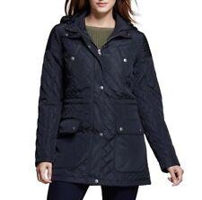 Merona Women's Jacket Full Zippered Anorak Atlantic Hooded Black Size L Large