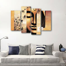 Canvas Prints Painting Pictures Home Decor Wall Art Buddha Photo Brown Framed