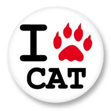 Magnet Aimant Frigo Ø38mm ♥ I Love You j'aime Chat CAT