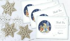 4 Peter Rabbit Personalised Christmas Thank you Cards & Envelopes