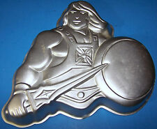 Vintage He-Man Aluminum Cake Pan Wilton 2105-3183 Masters of the Universe