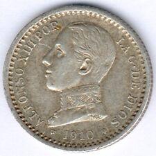Spanien Alfonso XIII. (1886-1931) 50 Centimos 1910 KM#730, vz-