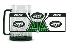 New York Jets 16 Oz Freezer Mug (NEW) Cup Cold Drink Freeze CDG Ice NFL