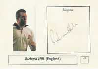 Richard Hill, back row ENGLAND RUGBY INTERNATIONAL SIGNED PHOTO CARD