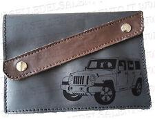 Portadocumenti portalibretto pelle incisione Jeep Wrangler Sahara 2017 Leather