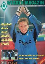 Programm 1999/00 SV Werder Bremen - Hansa Rostock