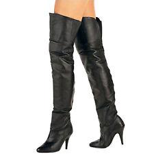 Pleaser USA Overknee-Stiefel Legend-8868 Leder schwarz Echtes Leder High Heel