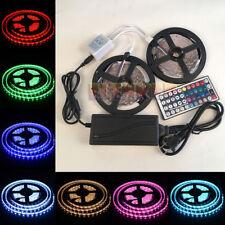 5M 10M SMD RGB 5050/3528/5630 300 LEDs Cool/Warm White Waterproof Strip Light US