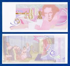 De La Rue Giori Varinota Beethoven Color Trial #4 - Specimen Test Note Unc
