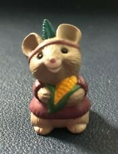 Hallmark Merry Miniatures 1991 Indian Mouse Girl