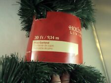 New 30 Ft Pine Soft Christmas Garland Decor String By Holiday Living / Gift Wrap