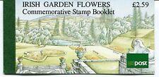 Ireland Garden Flowers Booklet of 8 Stamps, 1990, Scott 811a, 813a, HB34, SB36