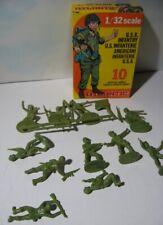 Atlantic 1/32 - World War II US Infantry - FANTERIA VINTAGE SERIE SCATOLA GIALLA