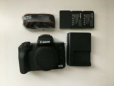 New listing Canon Eos M50 mirrorless camera body - Used - Great Condition - 3 batteries