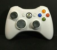 Xbox 360 White Single Controller w/Battery Pack - Tested & Working!