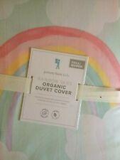 POTTERY BARN KIDS Organic Rainbow Skies FULL/QUEEN Duvet Cover - NEW