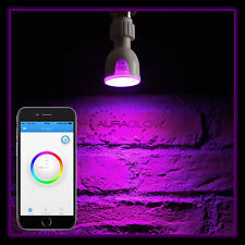 AURAGLOW 6W GU10 Bluetooth Colour Changing Warm/ Cool White LED Smart Light Bulb