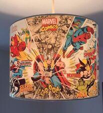 Marvel Super Hero 10 inch ceiling drum lampshade boys room