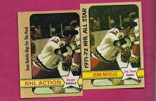 1972-73 OPC / TOPPS RANGERS JEAN RATELLE ACTION ERROR CARD