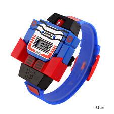 4 Colors Digital Robot transformers Toy watch Kids Boy Children Wristwatches NEW