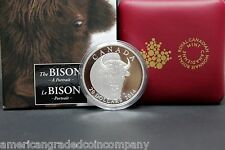 "2014 $20 Canadian The Bison ""Portrait Of The Bull""  Silver Coin 1oz Proof in OGP"