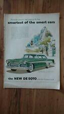 Vintage Original Print Ad 1950s DESOTO Automobile