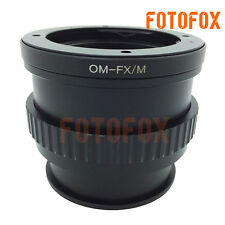 Olympus OM Lens to Fuji X Camera Lens Adapter with Macro Helicoid Feature X-E1