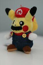 "Pokemon Pikachu Cosplay Mario 5"" Plush Soft Toy Stuffed Animal Plushie Keychain"