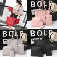 Womens Four Set Handbag Shoulder Bags Four Pieces Tote Bag Crossbody Wallet Bags